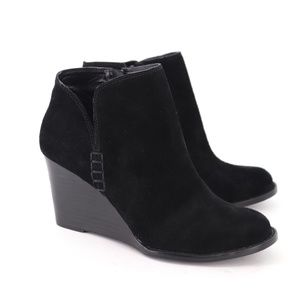 Lucky Brand Yimme Suede Wedge Ankle Booties